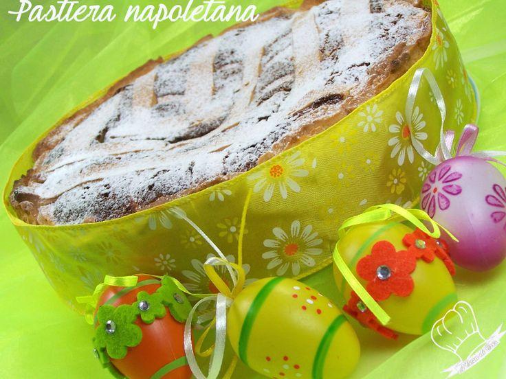 A Pasqua non può mancare sulle nostre tavole la pastiera napoletana, la ricetta che vi propongo è della mia amica Elisabetta napoletana doc!