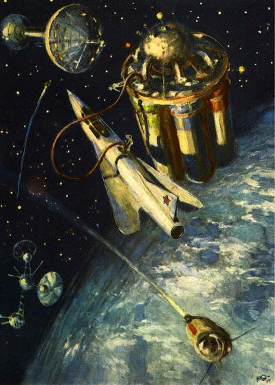 Vintage Space Art | Sci Fi Phreek: Retro Science Fiction ...