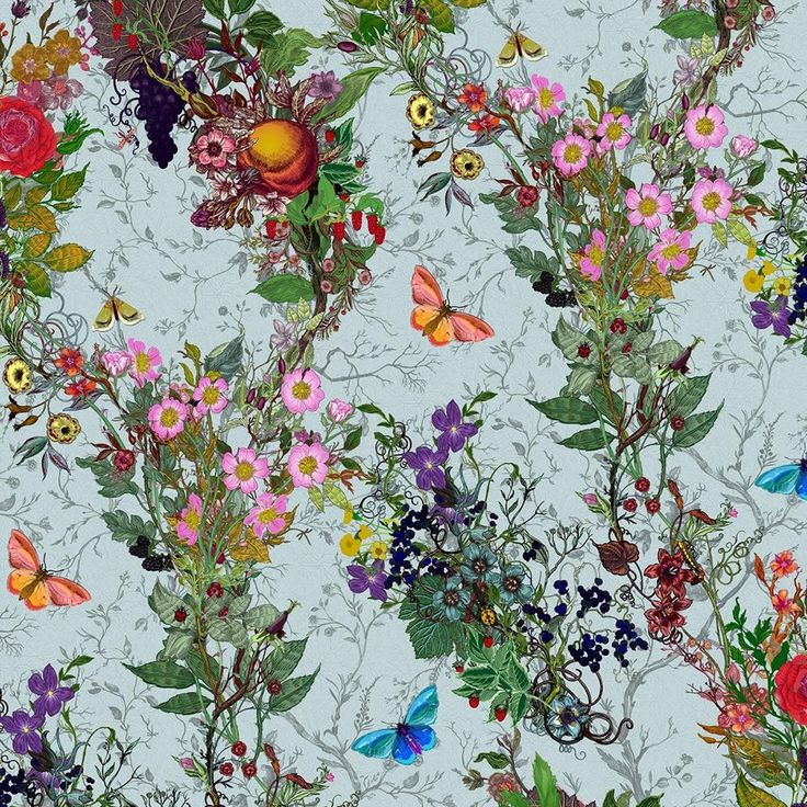 Timorous Beasties Bloomsbury Garden Wallpaper | Houseology