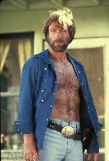 i know he's an older man now, but chuck norris was pretty hot and burly not too long ago. (serious comment. no lameass chuck norris jokes please.)