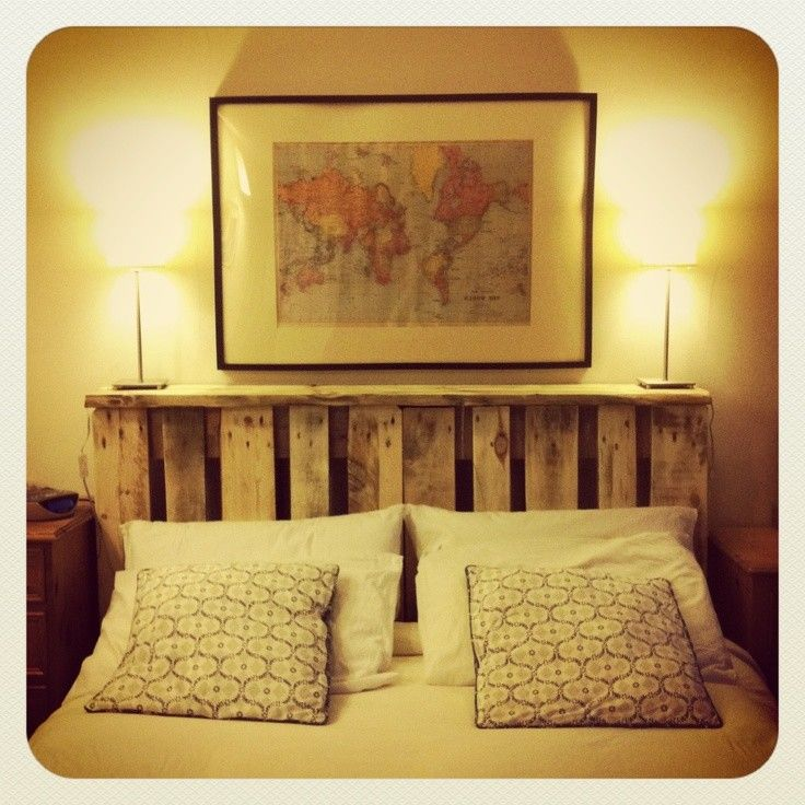 17 best ideas about headboard with shelves on pinterest for Pallet headboard with shelves