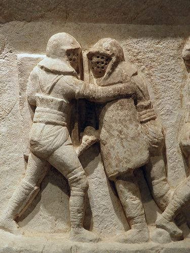 Gladiator frieze, 2nd - 3rd century AD, from the necropolis at Kibyra, Burdur Museum