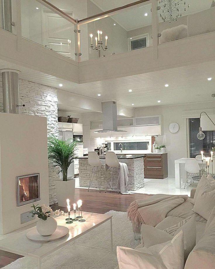 Glam Transitional Modern Interior Design Living Room And Kitchen