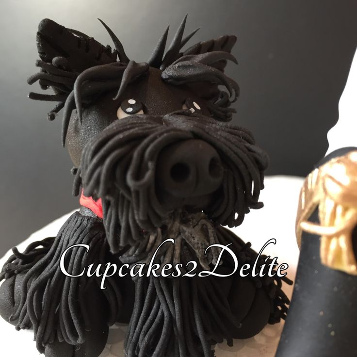 Scottie dog 'Ozzie' sugar paste figurine made from Saracino Modelling Paste!