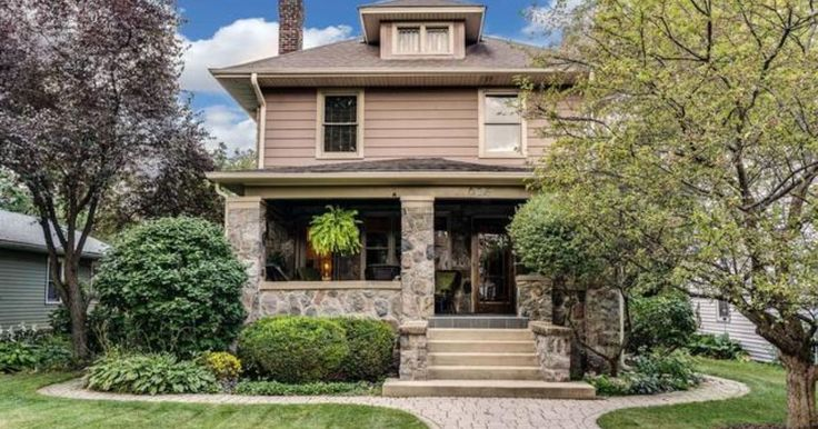 835 North Ellsworth Street Naperville, IL 60563  CHECK OUT THIS FABULOUS LOCATION: 8 Blks to DOWNTOWN NAPERVILLE, 3 Blks to METRA, .5 Blks to NEW STARBUCKS. This Home welcomes you from the moment you pull up: Intricate STONE Masonry Ext, COBBLESTONE walkways & FRONT PORCH w/Bead Board Ceiling, Granite Tiles & Original Beveled Glass...