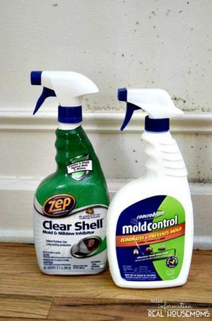 how to clean mould of grout