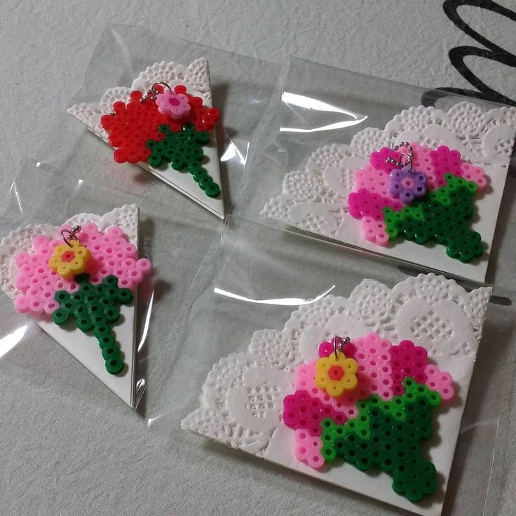 Flower presents perler beads by grace_keem