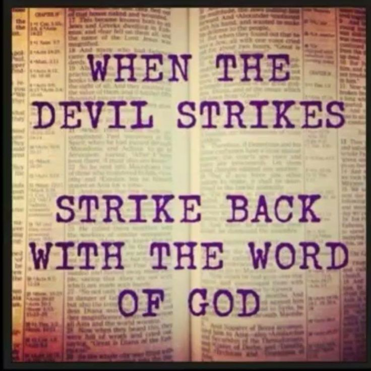 When the devil strikes, strike back with the Word of God. Sick? Declare healing scriptures out loud. Financial problems? Declare prosperity scriptures. Relationships in trouble? Declare God's Protection scriptures. The Holy Bible is the Sword of the Spirit. When spoken out loud, it gives weapons to your Guardian Angel to fight the demons sent to attack your life!!! The Word of God is a powerful Spiritual Warfare Weapon! Ephesians 6:10-18