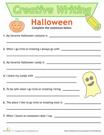writing sentences halloween fun worksheets and coloring pages music worksheets music. Black Bedroom Furniture Sets. Home Design Ideas