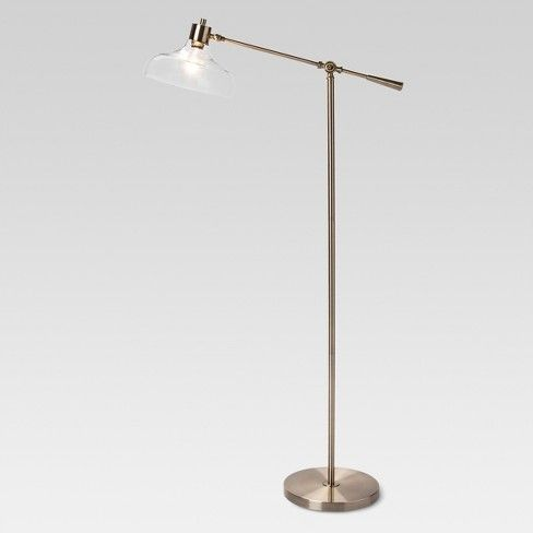 Silver floor lamp 25 pinterest threshold crosby glass shade floor lamp silver mozeypictures Image collections