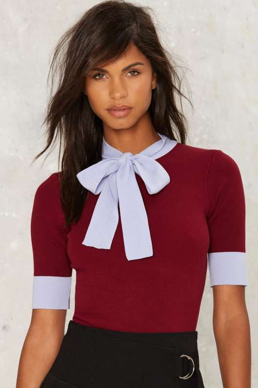 Peggy Ribbed Top