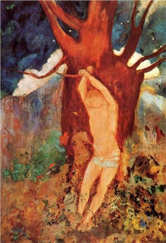 The Martyrdom of Saint Sebastian - Odilon Redon