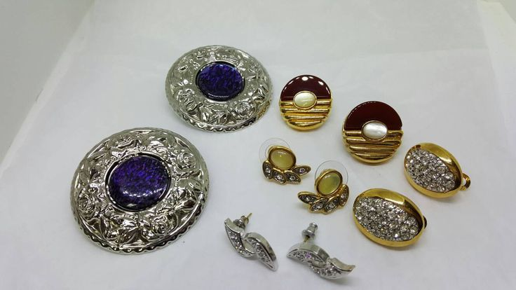 Canadian made Butler Pierced Earrings 14kt gold posts lot of 5 pair Moose Jaw Saskatchewan #jewellery #jewellerylots