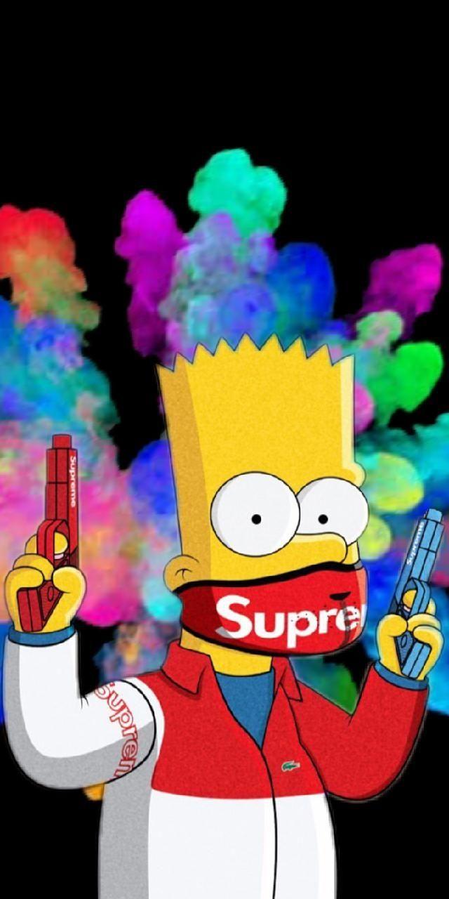 Download Simpsons Wallpaper Sefa Bbasi Bart Supreme Hd Inside Simpsons Supreme Wallpaper In 2020 Simpson Wallpaper Iphone Wallpaper Iphone Cute Cartoon Wallpaper