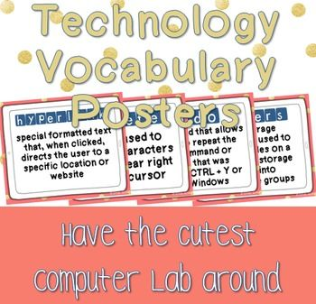 Technology Vocabulary Posters