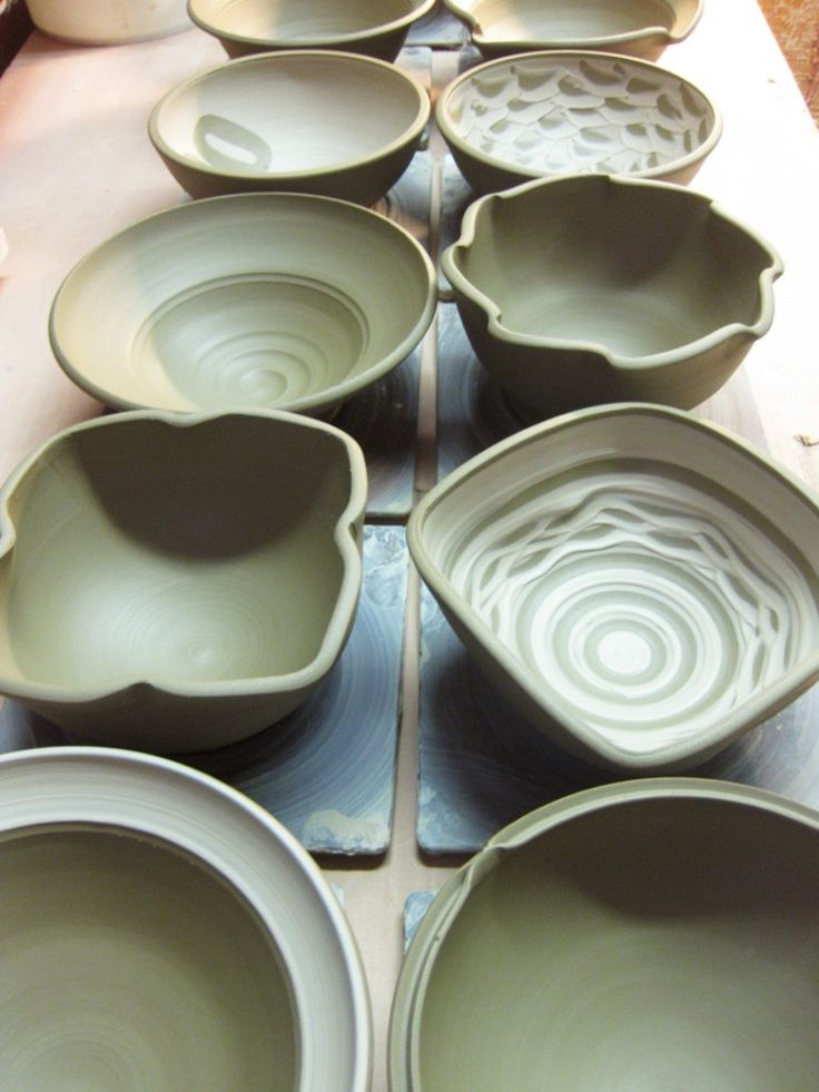 Altered bowls from gary jackson pottery ideas for Pottery designs with clay