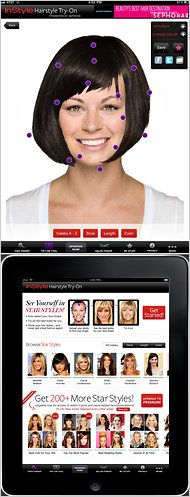 InStyle Hairstyle Try-On app for the iPad