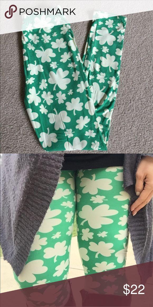 🍀 Shamrock Leggings 🍀 🍀Buttery soft leggings! 🍀 One size! Pants Leggings