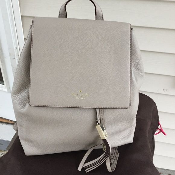 Kate Spade grey Backpack purse New without tags, never worn only removed tags. Paper still in and includes dust bag! No trades and this is my lowest price!! kate spade Bags Backpacks