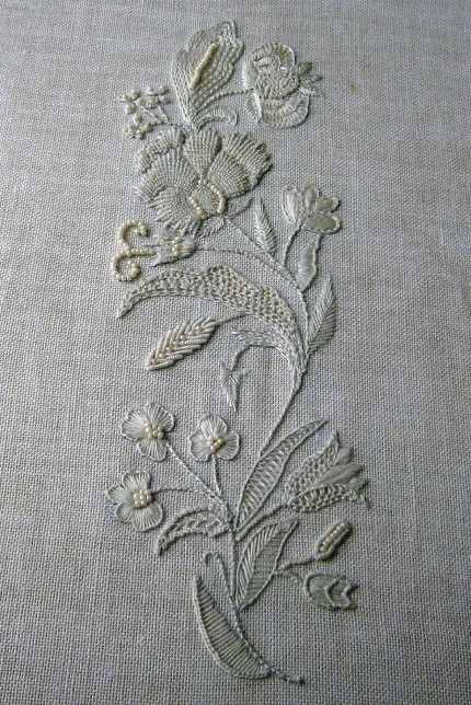 Whitework embroidery and cutwork pinterest