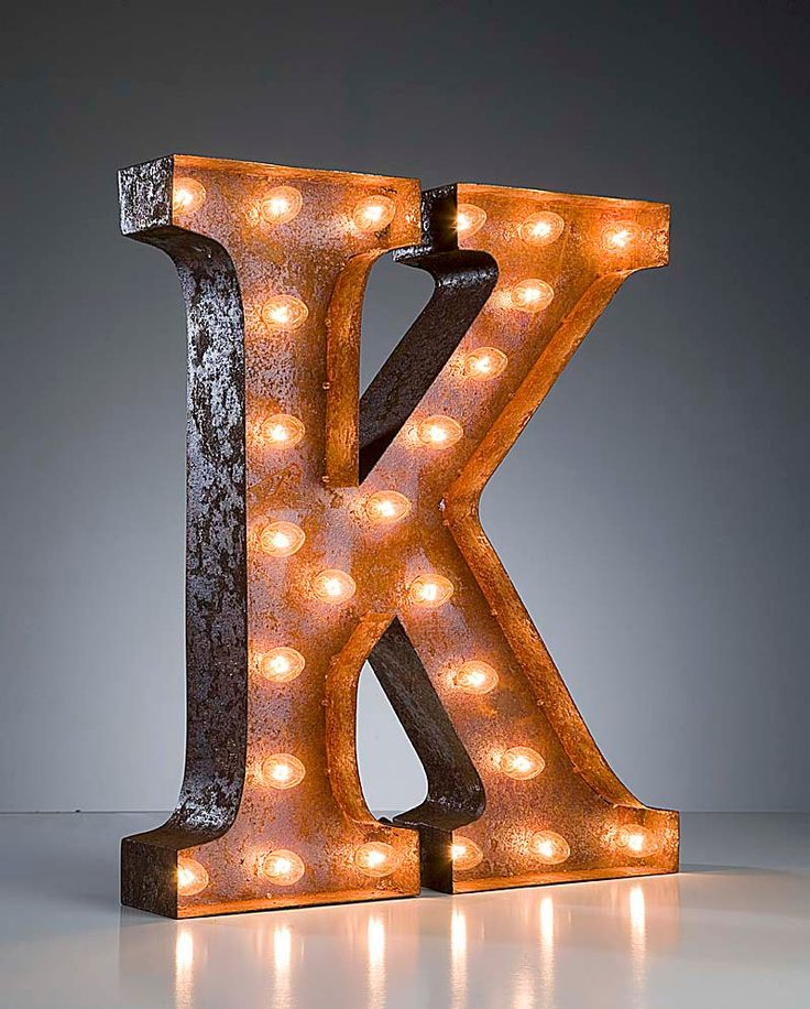 lighting letters. vintage marquee lights letter k by vintagemarqueelights on etsy i could just buy it instead of lighting letters w