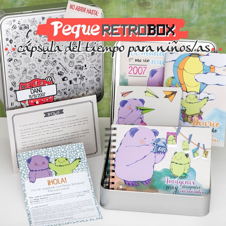 Regalo para niño Peque Retrobox. Una cápsula del tiempo ideal como regalo de niño o niña #pequeretrobox #myretrobox #retrobox #regalo #niño
