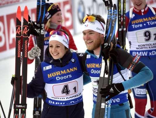 """Coupe du monde de biathlon : sans Fourcade la France remporte le relais mixte simple de Kontiolahti - Les Français Anaïs Chevalier et Antonin Guigonnat se sont imposés en Finlande devant les duos autrichien et norvégien. - http://ift.tt/2p0H074 - \""""lemonde a la une\"""" ifttt le monde.fr - actualités  - March 10 2018 at 04:36AM"""