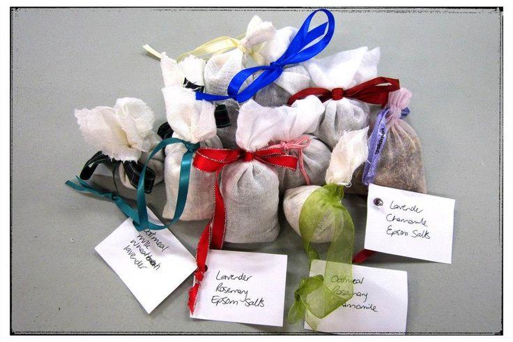 Handmade Scented Bath Sachets. Community Craft Group, Christchurch, New Zealand.