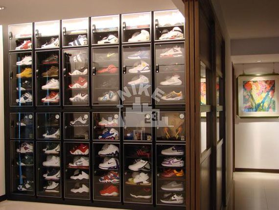 Looks like we have a winner. We've seen stacked box-crates, custom boxes from The Container Store, and shelves stacked sky-high from floor to ceiling. Nikecity23, a hardcore Nike Basketball collector from East Asia, clearly invested a good amount of money and his own time in building this custom sneaker storage micro-facility in his own apartment, …