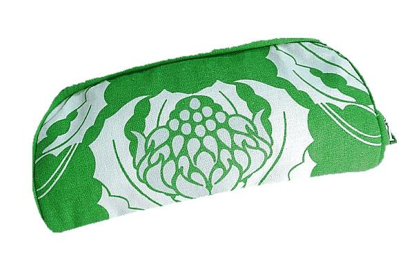 Organic Cotton Green Waratah Cosmetic Pouch $12.95