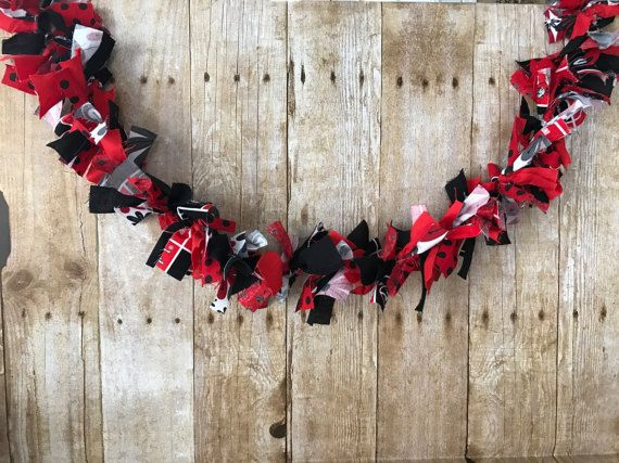 Rag Garland Georgia Bulldogs Home Decor Rag by FunkyBugBoutique