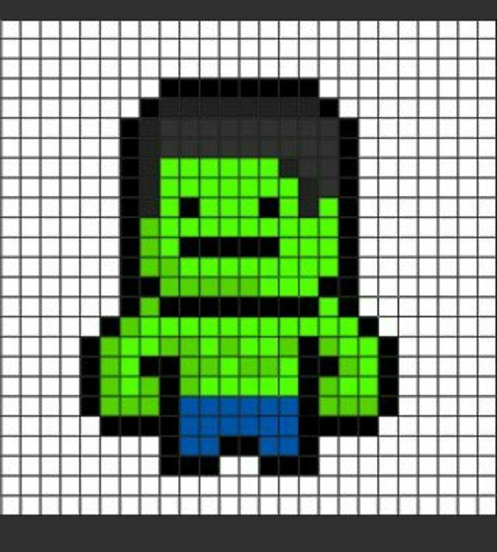 Pin By Kim Mckay On Beading Superheroes Pixel Art Pix Art Pixel Art Templates