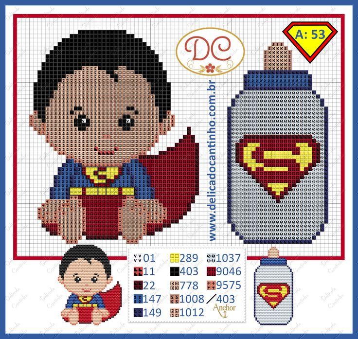http://www.delicadocantinho.com.br/2016/05/grafico-ponto-cruz-superman-baby.html