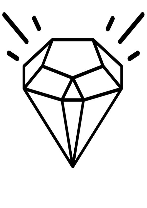 Diamond Coloring Pages : diamond, coloring, pages, Diamond, Coloring, Pages, Kids,, Pages,, Color