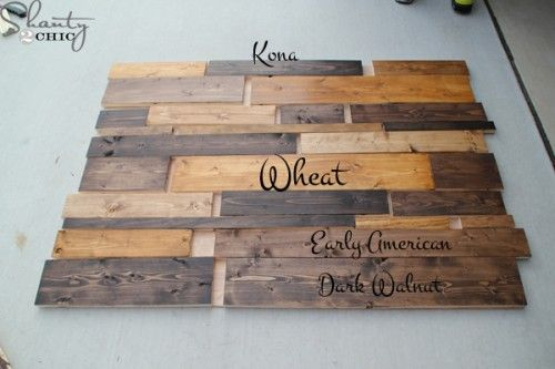 Diy Planked Headboard Diy Headboards Stains And Colors