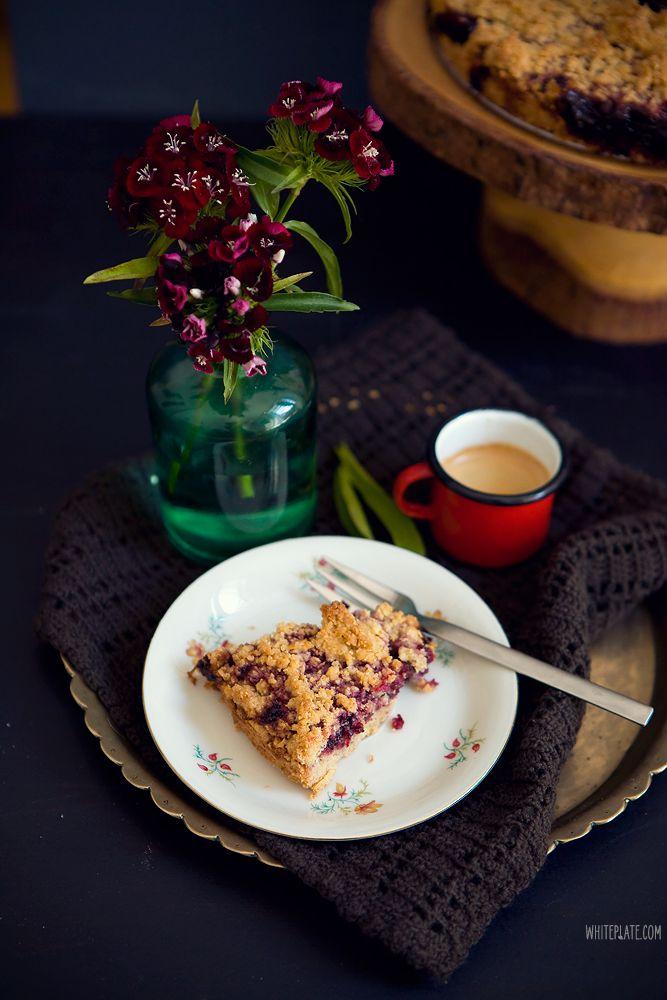 Ciasto owsiane z porzeczkami