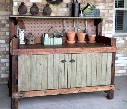 Tracy's husband made this potting bench for her several years ago. Last year she thought about painting it, but decided not to for fear she wouldn't be happy with it. Just recently she …
