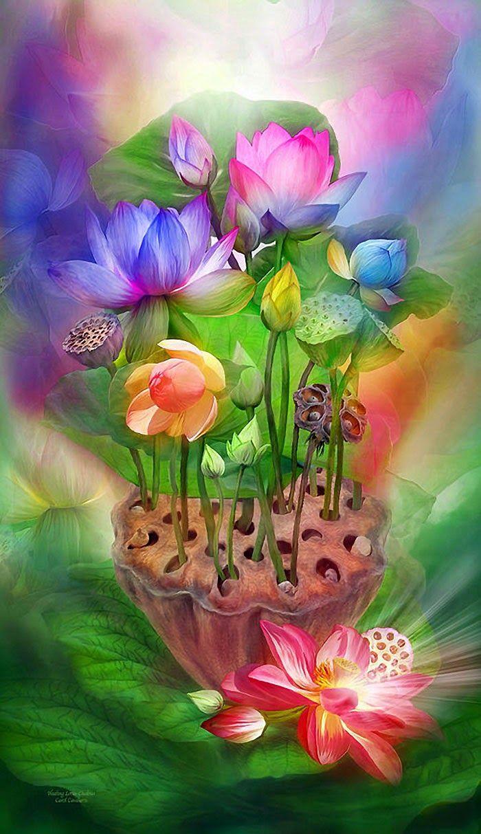 Сказочный цветок открытка
