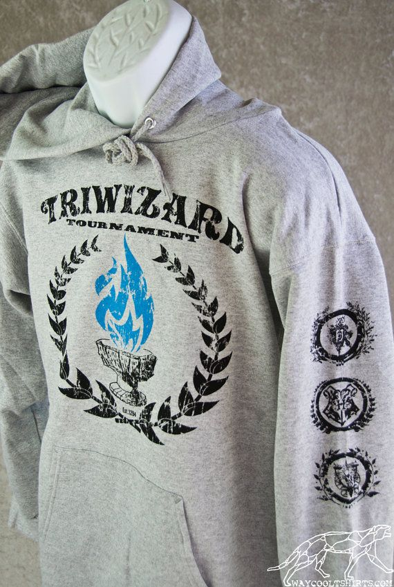 bb581b022 HARRY POTTER HOODIE TriWizard Tournament. Blue by waycooltshirts |  Perfection | Harry potter hoodie, Harry potter, Hoodies