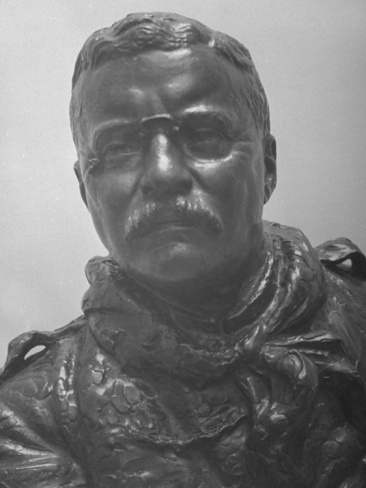 Close-Up of Bust of Theodore Roosevelt at Forest Lawn Memorial Park