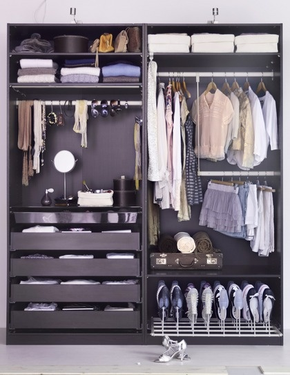 Ikeas Pax; great color  I want to open up my closet for this....