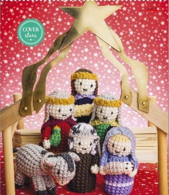 Natividad Crochet: Un conjunto de caracteres dulces de Navidad de la natividad - crafting24, creativas artesanías de bricolaje ideas.