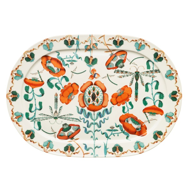 Iitalla Korento platter with poppies and dragonflies. Colourful and whimsical, just the way I like it!