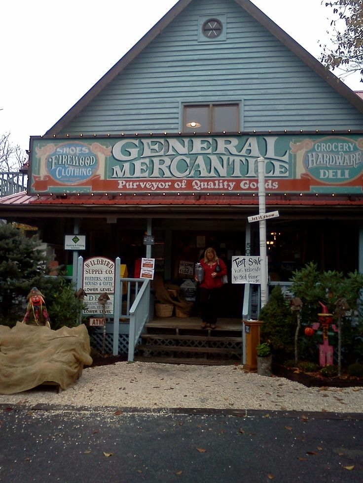 """Fred's General Store, on the top of Beech Mountain, NC - """"If we don't have it, you don't need it"""" - everything from milk to hiking gear and more."""