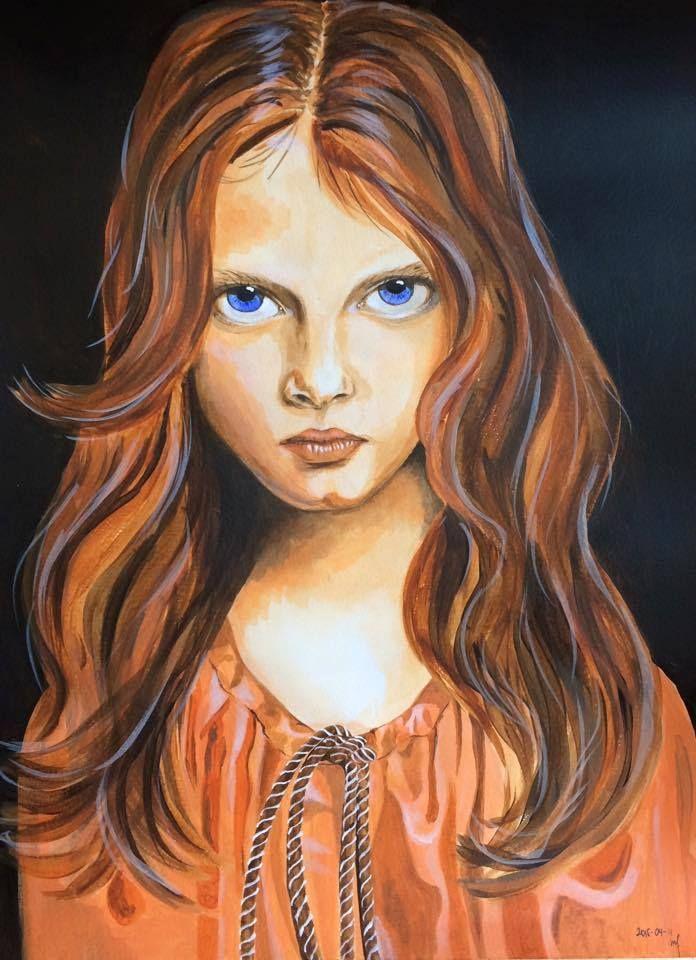 An orange girl with blue eyes :)