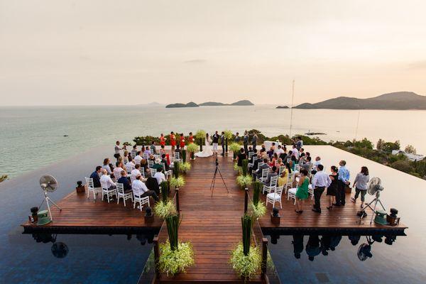 What an incredible wedding location! Sri Panwa - Phuket, Thailand, photo by Julian Wainwright Weddings | via junebugweddings.com