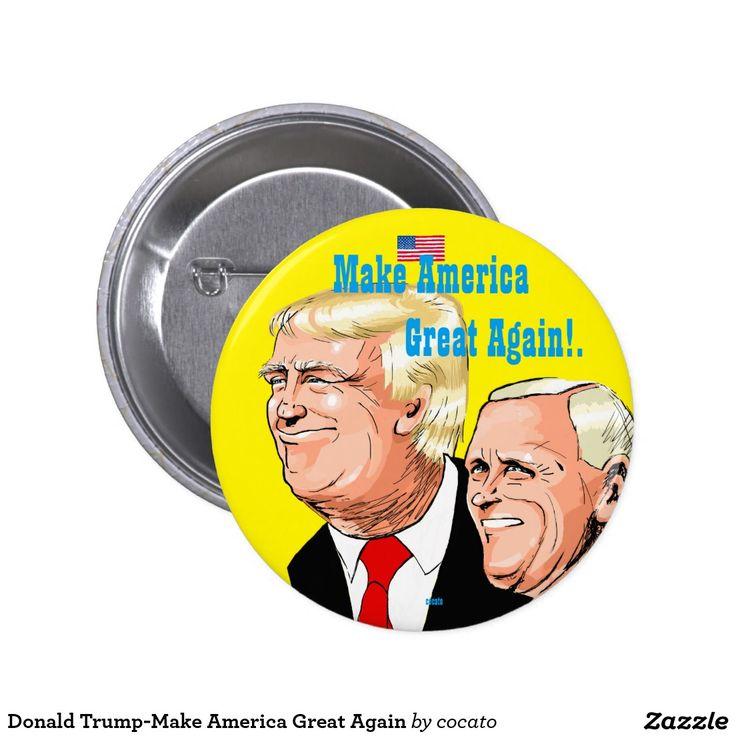 Donald Trump-Make America Great Again 5.7cm 丸型バッジ