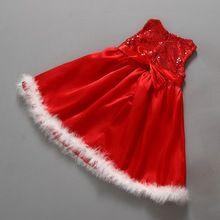 5pcs/lot Wholesale Red Kids Dresses For Girls Christmas Dress Fantasia Infantil 2015 Baby Girl Party Dress Toddler Girl Clothing(China (Mainland))