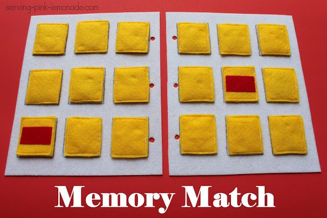 Serving Pink Lemonade: Quiet Book Games Part 4: Memory Match (Free Template Included)