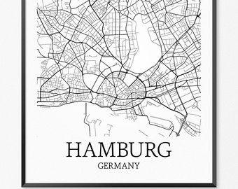 Bildergebnis für hamburg karte skizze